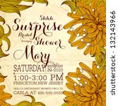 vintage floral printable... | Shutterstock .eps vector #132143966
