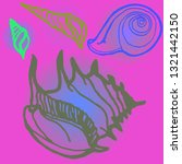 shell icons set or seashell... | Shutterstock .eps vector #1321442150