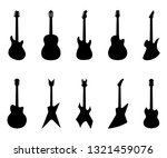 Set Of Guitar Silhouettes ...