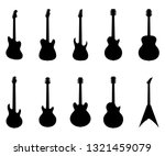 set of guitar silhouettes ... | Shutterstock .eps vector #1321459079