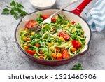 zucchini noodle with tomato ... | Shutterstock . vector #1321460906