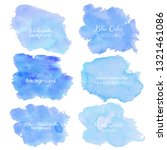 blue abstract watercolor... | Shutterstock .eps vector #1321461086
