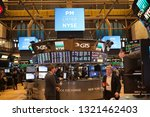Small photo of The New York Stock Exchange is an American stock exchange located at 11 Wall Street, Lower Manhattan, New York City. In stock exchange billions of dollars of stocks are traded daily. 11/12/2018