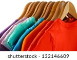 choice of clothes of different... | Shutterstock . vector #132146609
