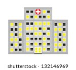 a simple stylized hospital...   Shutterstock .eps vector #132146969