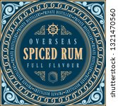spiced rum   ornate vintage... | Shutterstock .eps vector #1321470560