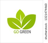 leave gogreen design template... | Shutterstock .eps vector #1321474460