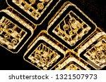 diamond crystal chandelier with ... | Shutterstock . vector #1321507973