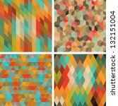 seamless abstract geometric...   Shutterstock .eps vector #132151004