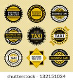 taxi labels   vintage style ... | Shutterstock .eps vector #132151034