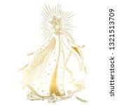 beautiful princess swan.... | Shutterstock .eps vector #1321513709