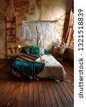 romantic loft interior. the... | Shutterstock . vector #1321518839