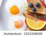 breakfast   sandwich with ham...   Shutterstock . vector #1321528430