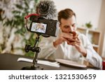 enjoying food. close up of... | Shutterstock . vector #1321530659