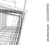 conceptual architecture 3d  | Shutterstock .eps vector #1321533053
