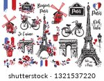 Hand Drawn Icon Set With Paris...