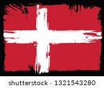 grungy flag of denmark  | Shutterstock . vector #1321543280