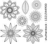 set fractal and swirl shape... | Shutterstock .eps vector #1321544900