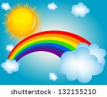 cloud  sun  rainbow vector...   Shutterstock .eps vector #132155210