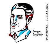 george gershwin engraved vector ... | Shutterstock .eps vector #1321556009