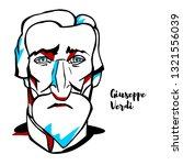 giuseppe verdi engraved vector... | Shutterstock .eps vector #1321556039