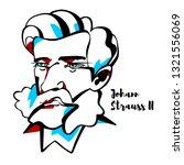johann strauss ii engraved... | Shutterstock .eps vector #1321556069
