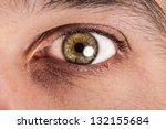 close up of male eye | Shutterstock . vector #132155684