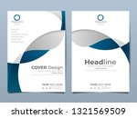 blue corporate identity cover... | Shutterstock .eps vector #1321569509
