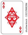 ace of diamonds card | Shutterstock . vector #1321588286