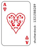 ace of hearts card. | Shutterstock . vector #1321588289
