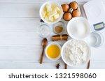 set of ingredients for cooking... | Shutterstock . vector #1321598060