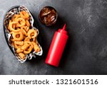 curly fries fast food snack in...   Shutterstock . vector #1321601516