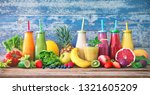 colorful freshly squeezed... | Shutterstock . vector #1321605209
