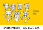 set of classic alcoholic... | Shutterstock .eps vector #1321628126