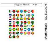 set of world flags round badges.... | Shutterstock .eps vector #1321639076