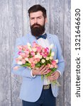 man well groomed wear tuxedo... | Shutterstock . vector #1321646630