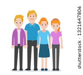 set of people character family... | Shutterstock .eps vector #1321647806