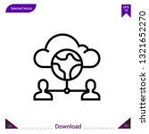 cloud icon vector . best modern ...