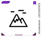 mountains icon vector . best...