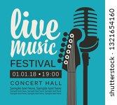 vector poster for live music... | Shutterstock .eps vector #1321654160
