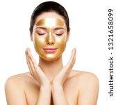 woman gold mask  beautiful... | Shutterstock . vector #1321658099