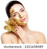 woman gold mask  beautiful... | Shutterstock . vector #1321658489