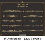 set of art deco gold... | Shutterstock .eps vector #1321659056