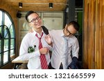 businessmen are hangout after... | Shutterstock . vector #1321665599