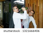 businessmen are hangout after... | Shutterstock . vector #1321666406