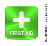 first aid medical button sign... | Shutterstock .eps vector #1321673156