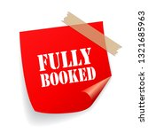fully booked red vector sticker ... | Shutterstock .eps vector #1321685963