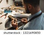 delicate jewelry work. close up ...   Shutterstock . vector #1321690850