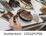 dangerous job. top view of... | Shutterstock . vector #1321691906