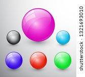 illustrations of glossy glass...   Shutterstock . vector #1321693010